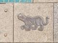 Überall Gehwegplatten mit Motiven