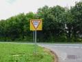 Klare Beschreibung falls man das Schild nicht kennen sollte
