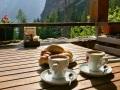 Frühstück in den Bergen