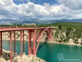 Maslenica-Brücke an der Adria-Magistrale D8