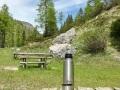 Kurz hinter dem Passo Rollo , Zeit für eine Kaffeepause