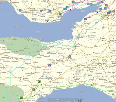Route Dartmoor, Exmoor, Cardiff