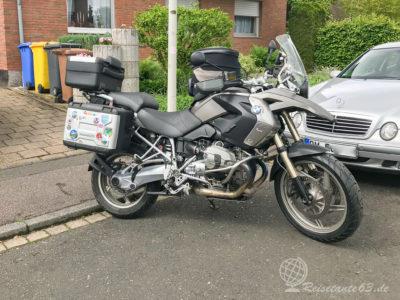 Womit reisen wir: BMW R1200GS Bj 2012 (K25)