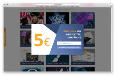 PSD Newsletter Gutschein